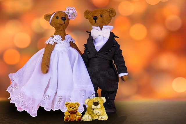plyšoví medvědi – nevěsta a ženich