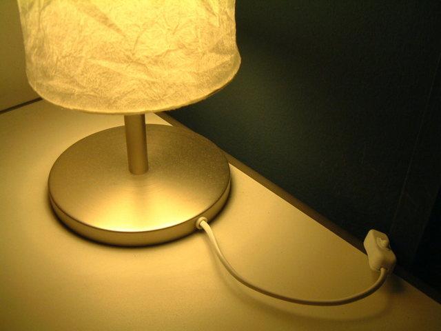 rozsvícená lampička