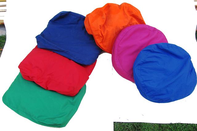 sedací barevné pytle