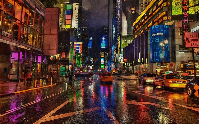noc město světla