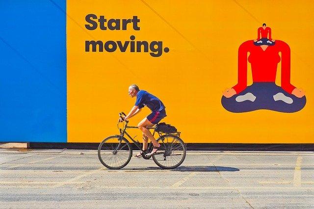 cyklista reklamní plocha