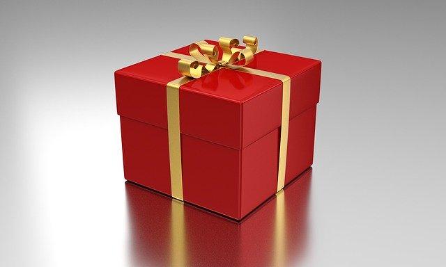 červený dáreček