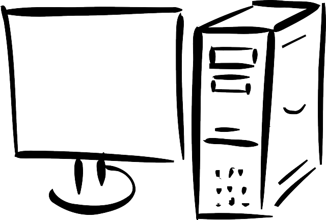nakreslený počítač