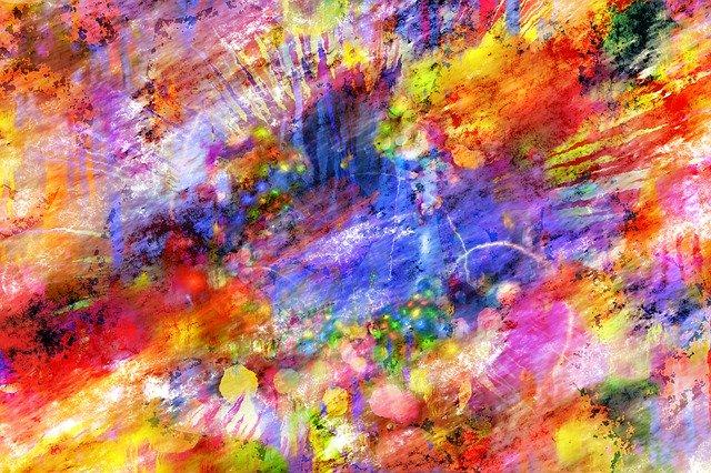 abstraktní barevná grafika