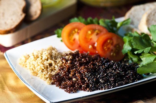 servírovaná quinoa