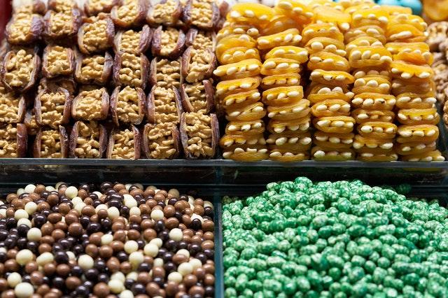bonbóny, sladkosti, kalorie
